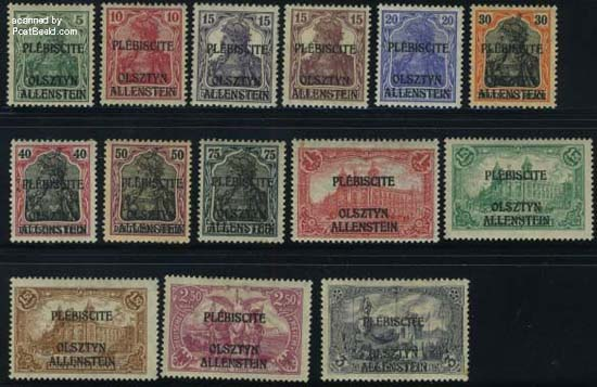 Postzegels Allenstein Olsztyn
