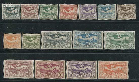 Postzegels Opper-Silezië