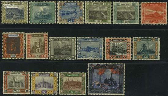 Postzegels Saarland