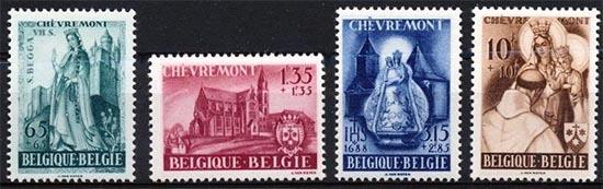 België postzegelserie met spelfout