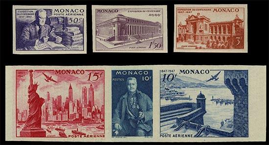 Postzegels Monaco President met zes vingers