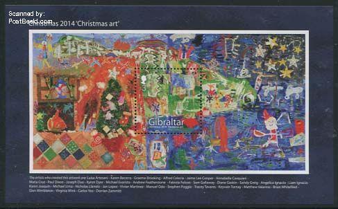 gip31415a Gibraltar kerstzege