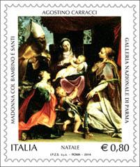 kerstzegel italië