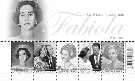 Postzegelvel Koningin Fabiola