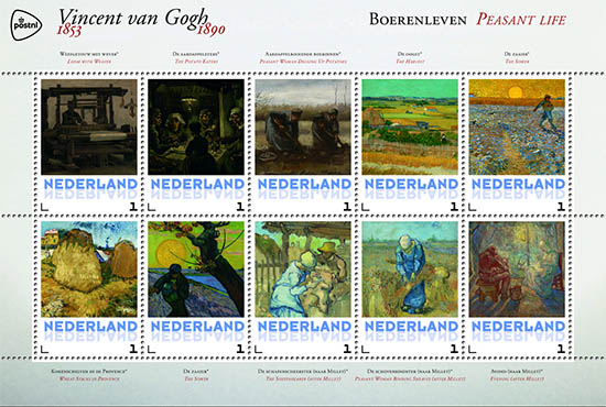 Persoonlijke postzegels PostNL Vincent van Gogh 2015
