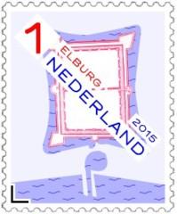 Postzegel vestingstad Elburg