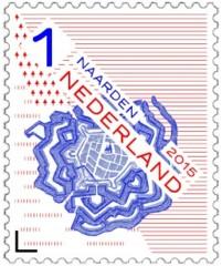 Postzegel vestingstad Naarden