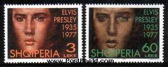Lelijke postzegels van Elvis Presley