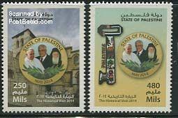 pqp31410 Palestijnse Authoriteit Paus bezoek