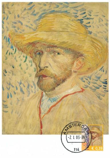 maximumkaart zelfportret Van Gogh (1)