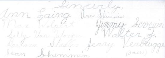 handtekeningen school