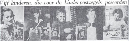 vijf kinderzegelkind