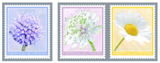 Liechtenstein 2015 bloemen postzegels