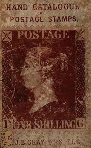 Hand catalogue of stamps