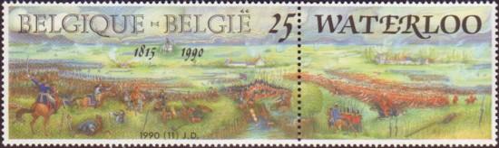 Postzegel Waterloo - België 1990