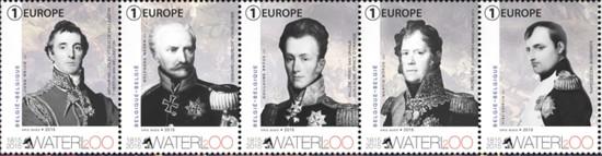 Postzegels België Waterloo