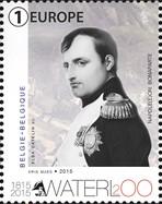 Zegel Napoleon 200 jaar Slag van Waterloo - België