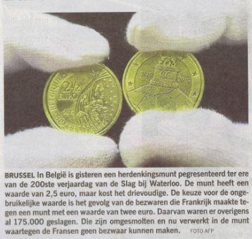 waterloo munt belgie
