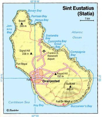 sint-eustatius map