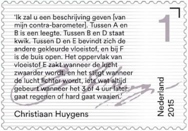 Brieven schrijven - tekst Christiaan Huygens