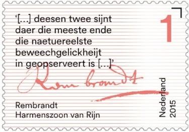 Brieven schrijven - tekst Rembrandt Harmenszoon van Rijn