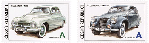 Skoda postzegel Tsjechie