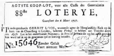 handtekening loterij