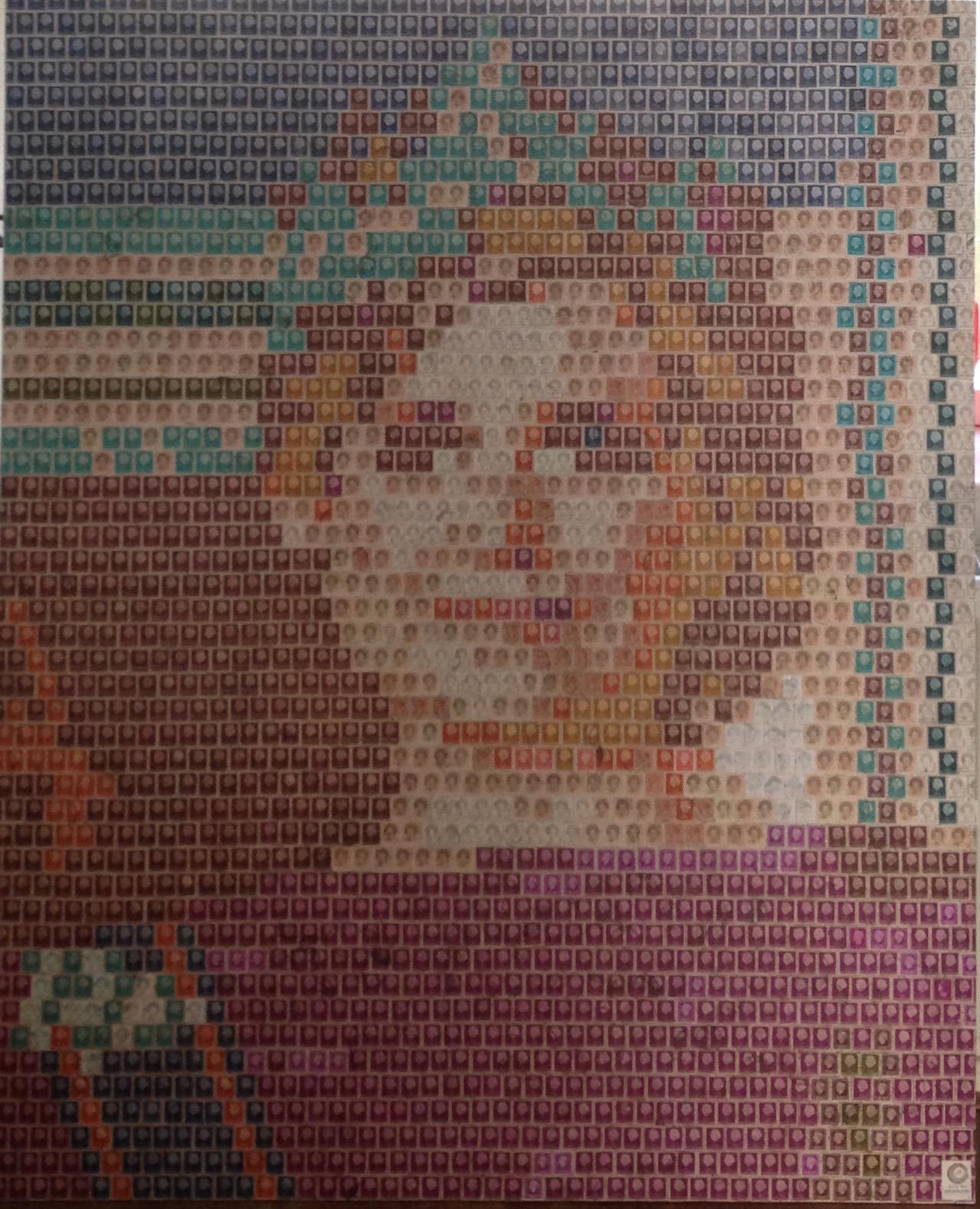 Postzegelfoto van koningin Maxima