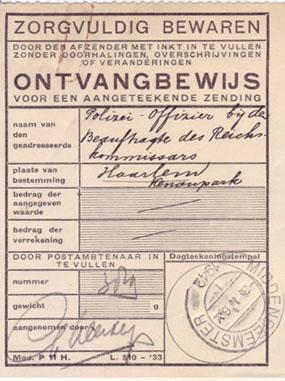 Ontvangsbewijs