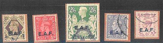 postzegels opdruk eaf