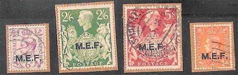 postzegels opdruk mef