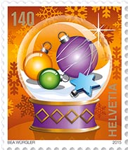 kerstpostzegel zwitserland