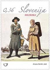 Klederdrachten postzegel