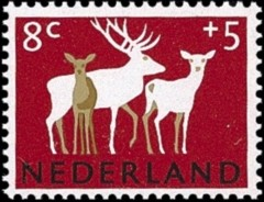 NVPH 813 Zomerzegel 1964 Herten