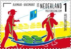 Postzegelvel Postcrossing 2016 - Alkmaar - Kaasmarkt