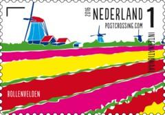 Postzegelvel Postcrossing 2016 - Bollenvelden