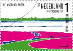 Postzegelvel Postcrossing 2016 - De Waddeneilanden
