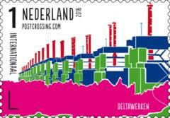 Postzegelvel Postcrossing 2016 - Deltawerken