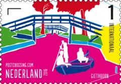 Postzegelvel Postcrossing 2016 - Giethoorn