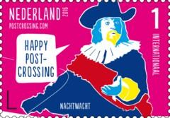 Postzegelvel Postcrossing 2016 - Nachtwacht