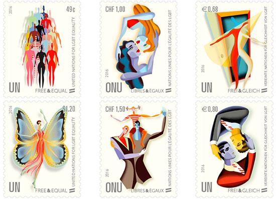 Deze postzegels homo-emapcipatiepostzegels zorgden voor onbegrip.