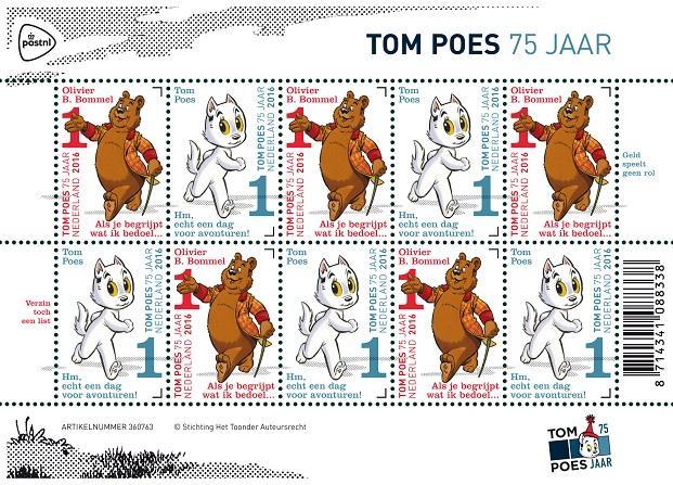 Velletje Tom Poes 75 jaar