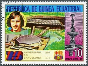 Johan Cruijff postzegel uit Equatoriaal Guinea