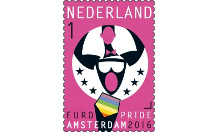 Europride Amsterdam 2016 zegel