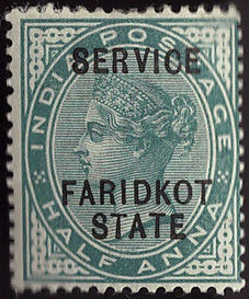 Faridkot ½ A 1887