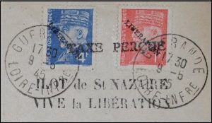 Taxe percue 1945 Liberation
