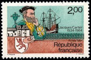 Cartier postzegel France 1984