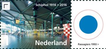 Vel Schiphol - rechts 4e postzegel