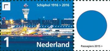 Vel Schiphol - rechts 5e postzegel