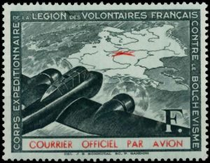 Frans Legioen luchtpost zonder opdruk groen